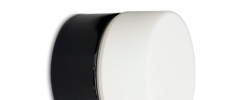 Applique murale salle de bain porcelain 017 noir blanc h10cm zangra normal