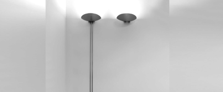 Applique murale saucer nickel led l25cm h185cm lumen center italia normal
