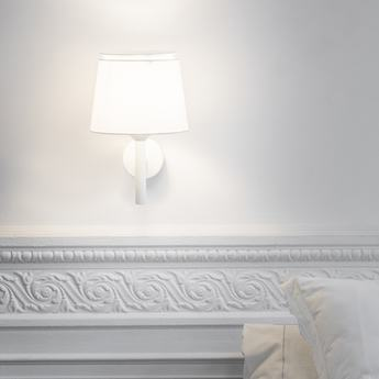 Applique murale savoy blanc l23cm h39 2cm faro normal