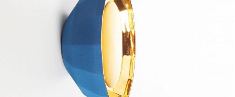 Applique murale scotch club 30 bleu or o30cm h14 7cm marset normal
