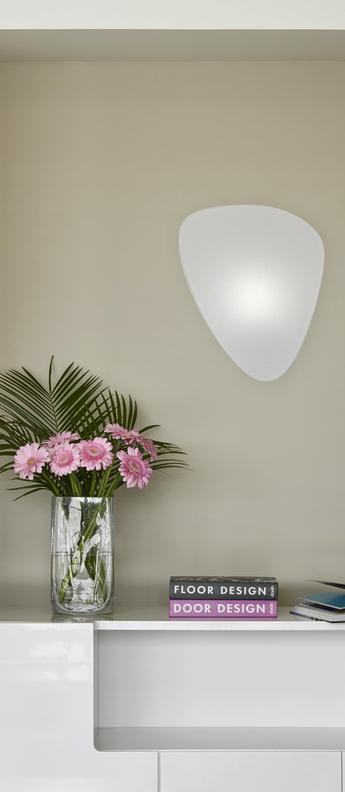 Applique murale screen murano blanc o33cm h42cm market set normal