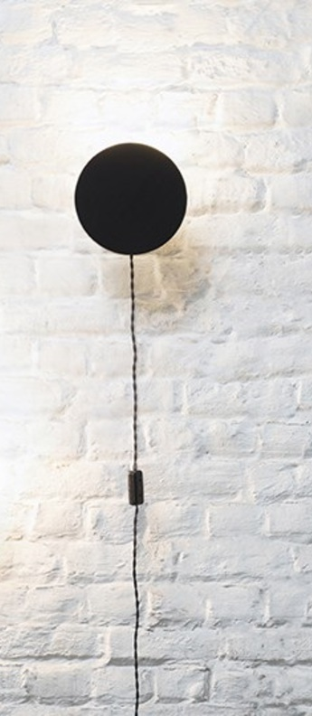 Applique murale scudo noir o20cm p8cm serax normal