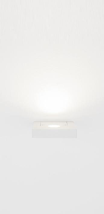 Applique murale segno quadro led blanc l10cm lumen center italia normal