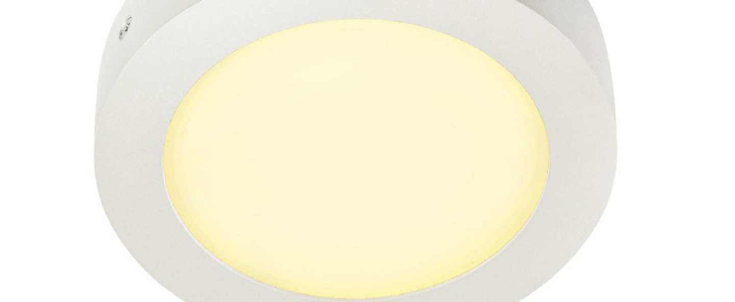 Applique murale senser 10 blanc led o16 9cm h3 6cm slv normal