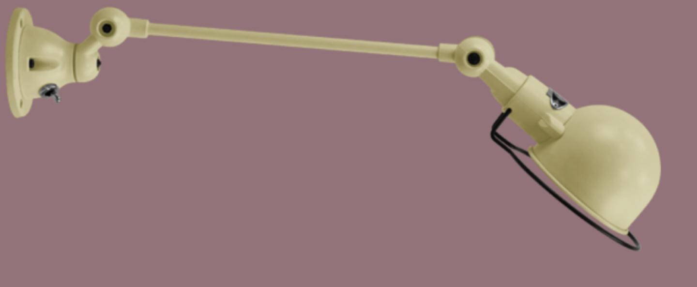 Applique murale signal 1 bras ivoire l40cm h15cm jielde normal