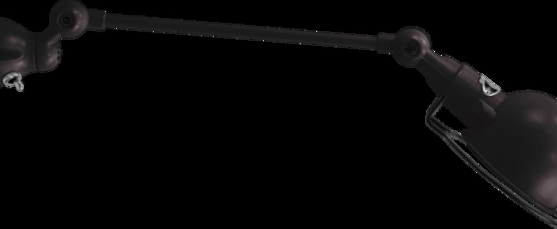 Applique murale signal 1 bras si301s noir brillant interrupteur l40cm h15cm jielde normal