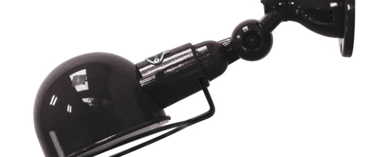 Applique murale signal sans bras si300 noir brillant l28cm h15cm jielde normal