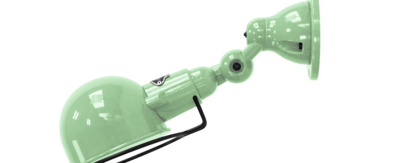 Applique murale signal sans bras si300 vert deau l28cm h15cm jielde normal