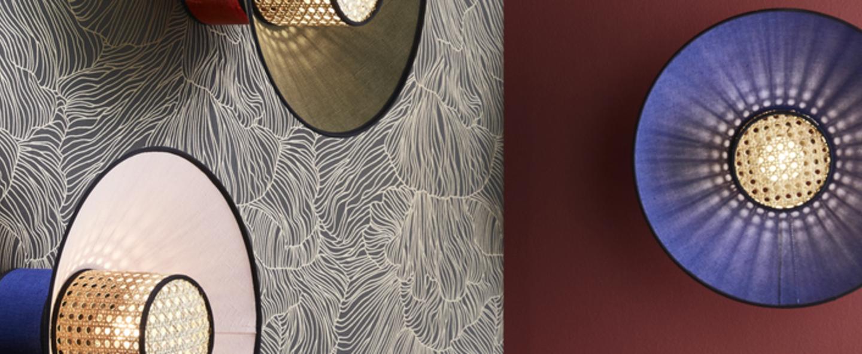 Applique murale singapour indigo gris o40cm h22cm market set normal