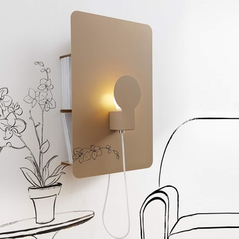 Applique murale sketch beige h62cm led zava normal