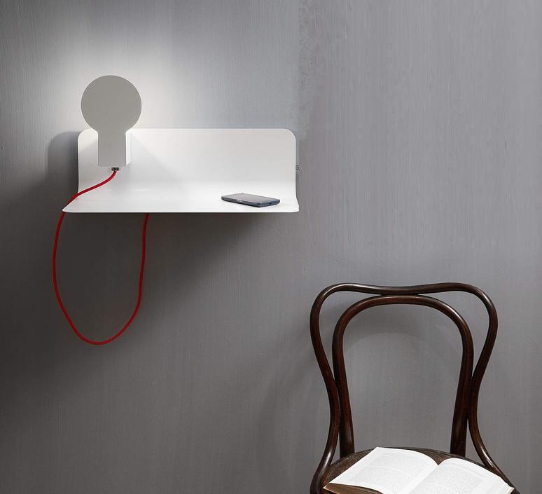 Sketch enrico azzimonti zava skech shelf blanc 9010 red rayon luminaire lighting design signed 17387 product