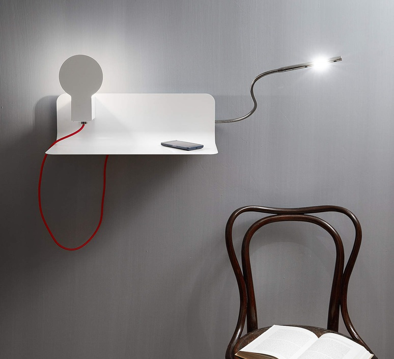 wall light and reading light sketch white h16 5cm led. Black Bedroom Furniture Sets. Home Design Ideas