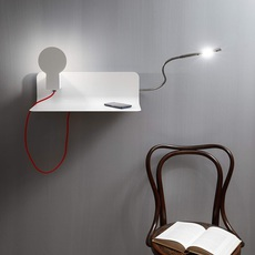 Sketch enrico azzimonti zava skech shelf blanc 9010 red rayon reading light luminaire lighting design signed 17384 thumb