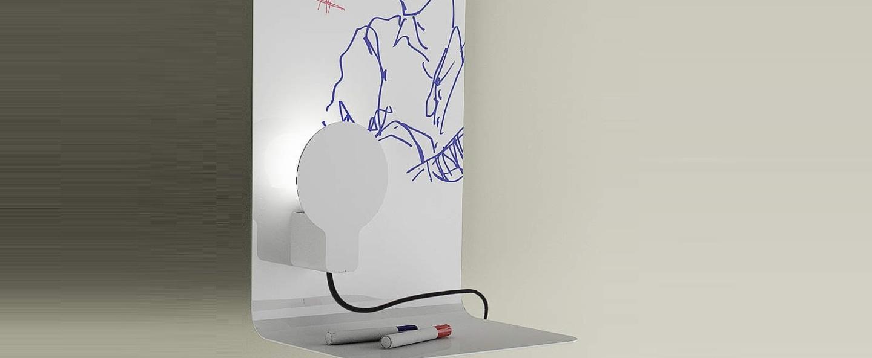 Applique murale sketch blanc h61cm led zava normal