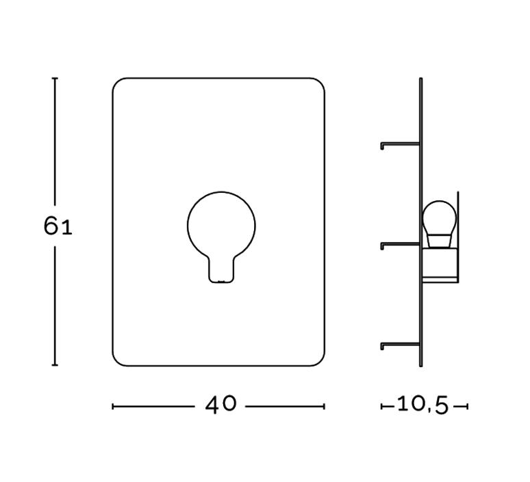 Sketch enrico azzimonti zava skech l blanc 9010 black rayon luminaire lighting design signed 17379 product