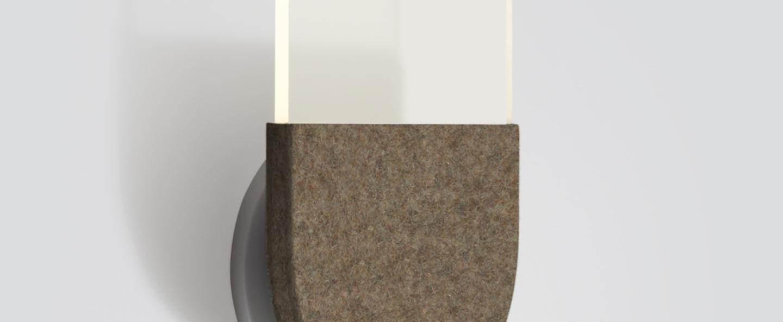 Applique murale slab w20 dali marron led 2700k 105lm l16 5cm h27 5cm andlight normal