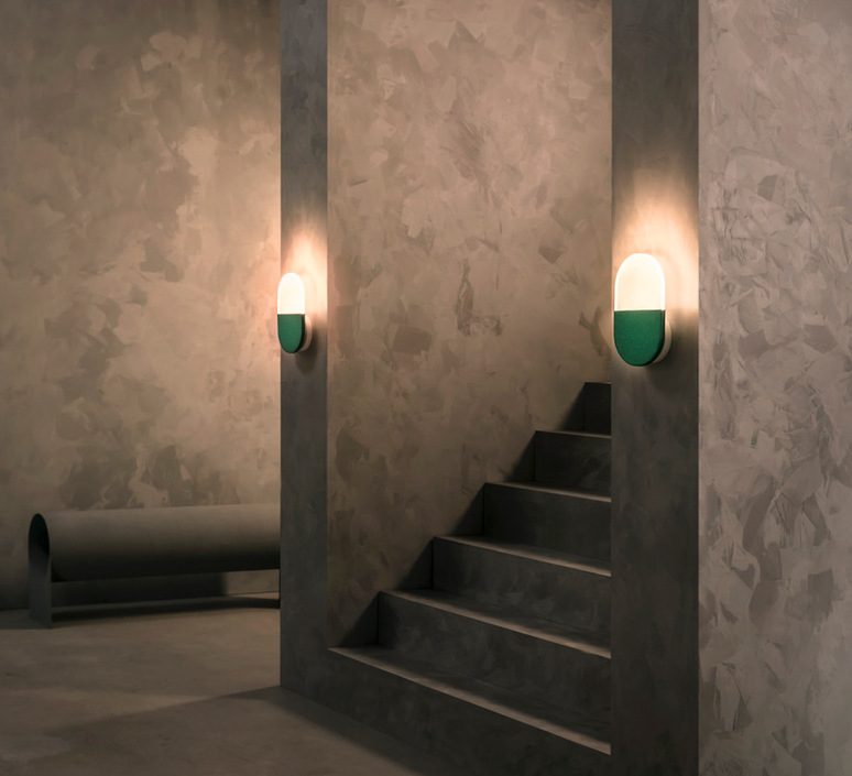 Slab w20 dali  caine heintzman applique murale wall light  andlight sla w20 w grn 27 dal 230  design signed nedgis 90099 product