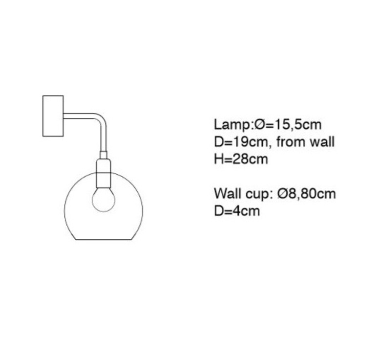 Small check crystal rowan susanne nielsen applique murale wall light  ebb and flow la101520w  design signed nedgis 73022 product