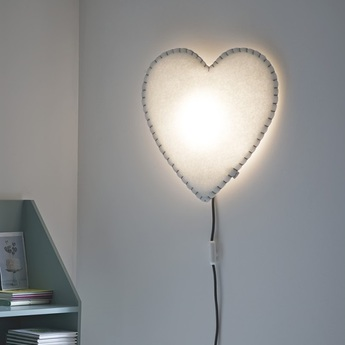 Applique murale soft light blanc bleu led o46cm h48cm buokids normal