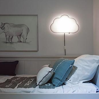Applique murale soft light blanc gris led l46cm h48cm buokids normal
