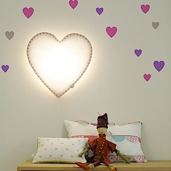 Applique murale soft light blanc rose led o46cm h48cm buokids normal