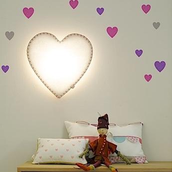 Applique murale soft light blanc rose led o46cm h48cm buokids normal