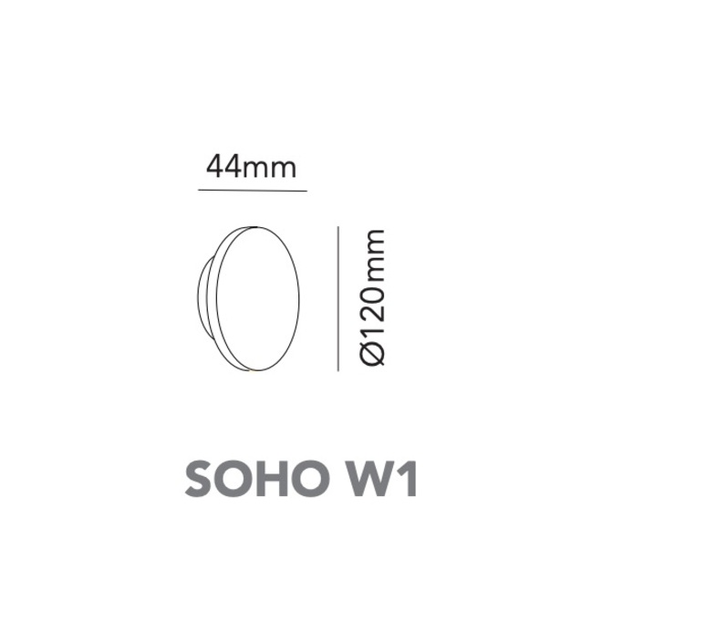 Soho w1 ronni gol applique murale wall light  light point 270142  design signed nedgis 96211 product