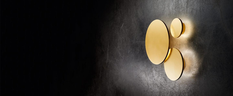 Applique murale soho w2 or led o20cm p20cm light point normal