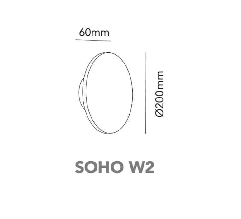 Soho w2 ronni gol applique murale wall light  light point 270152  design signed nedgis 96246 product