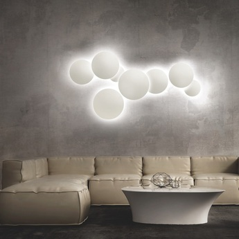 Applique murale soho w3 blanc led o30cm p30cm light point normal
