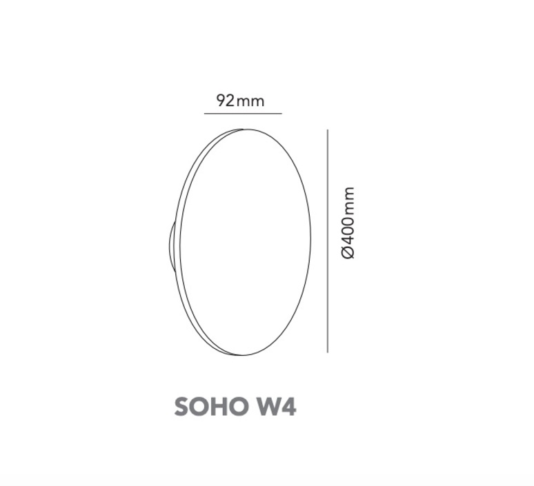 Soho w4 ronni gol applique murale wall light  light point 270172  design signed nedgis 96235 product