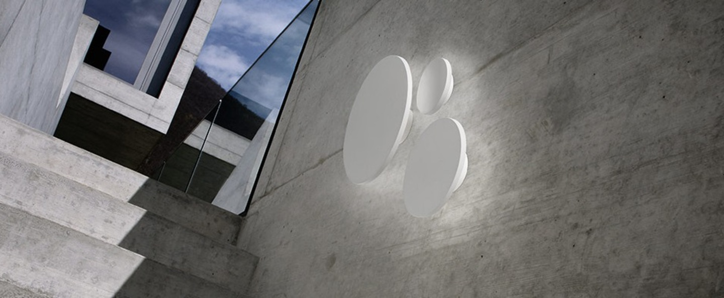 Applique murale soho w5 blanc led o50cm p50cm light point normal