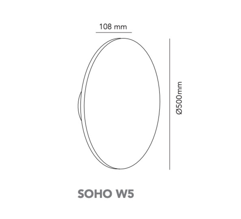 Soho w5 ronni gol applique murale wall light  light point 270182  design signed nedgis 96242 product