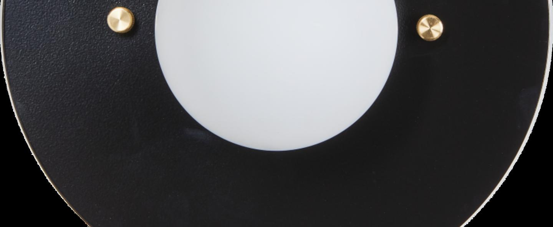 Applique murale soleil noir noir et blanc l35cm h45cm daniel gallo normal