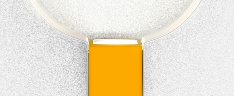 Applique murale sonoluce blanc jaune led l20cm h29 5cm zava normal