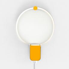 Sonoluce andrea brugnera applique murale wall light  zava sonoluce walllamp white ral9010 interior yellow ral1003  design signed 36474 thumb