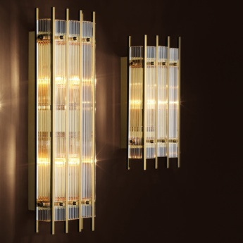 Applique murale sparks s verre transparent chrome l23cm h42cm eichholtz normal