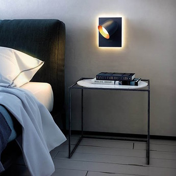Applique murale speers w 2l noir led l24cm h24cm blux normal