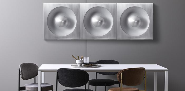 Applique murale spiegel aluminium brosse l62 5cm h62 5cm verpan normal