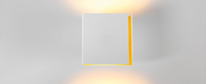 Applique murale split medium blanc or h16cm modular normal