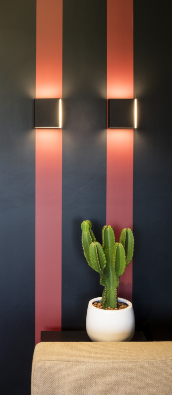 Applique murale split medium noir et or h16cm modular normal