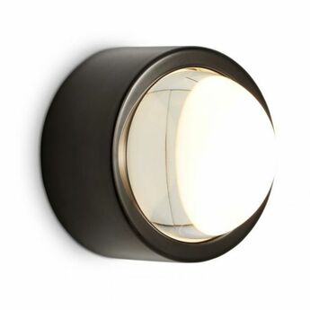Applique murale spot round noir led l11cm h11cm tom dixon normal