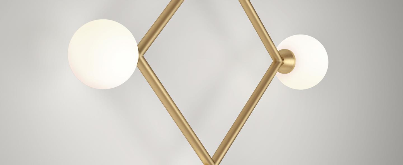 Applique murale square rhombus laiton l43cm p7 5cm atelier areti normal