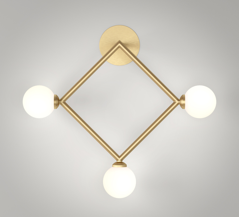 Row  applique murale wall light  atelier areti row laiton  design signed 54926 product