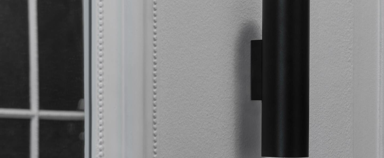 Applique murale stan noir l6cm h22 5cm faro normal