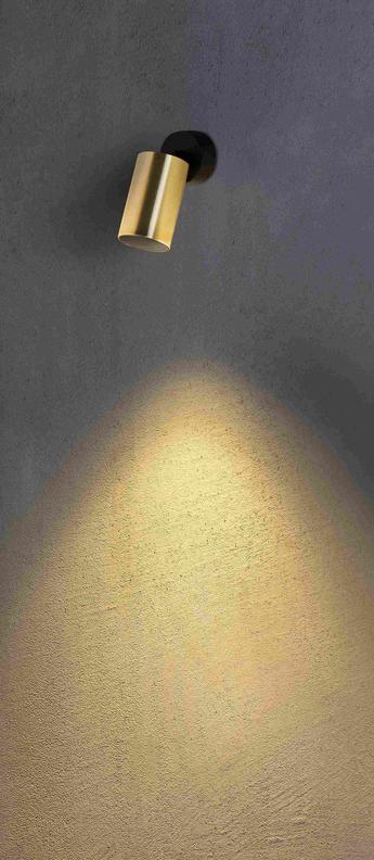 Applique murale stan projecteur or o6cm h13 4cm faro normal
