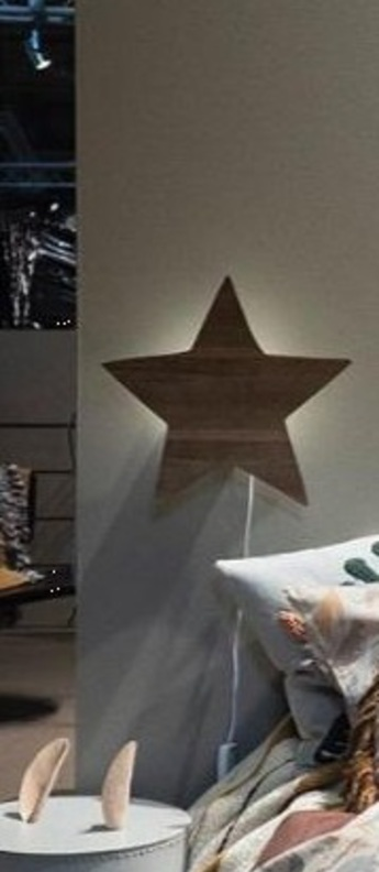 Applique murale star lamp chene l29 8cm h33cm ferm living normal