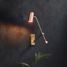 Stasis robbie llewellyn adam yeats applique murale wall light  bert frank stasis wall brass satin polish copper  design signed nedgis 64956 thumb