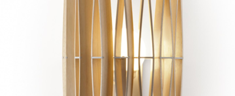 Applique murale stick naturel l33cm h65cm fabbian normal