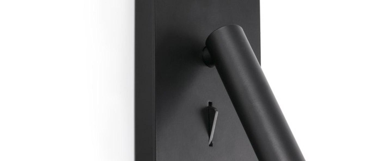 Applique murale suau noir led 3000k 140lm l9 5cm h17cm faro normal